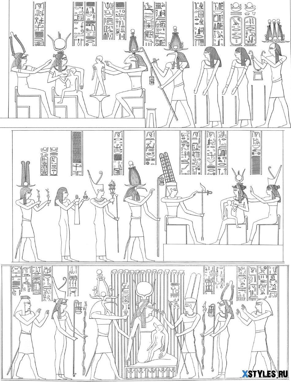 Перевод рисунков Египта.