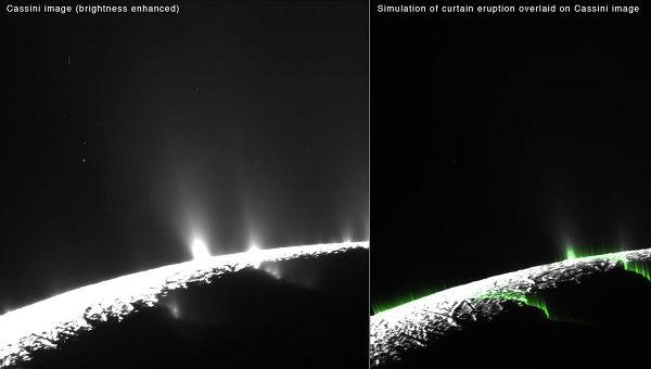 НАСА: гейзеры Энцелада могут оказаться оптической иллюзией