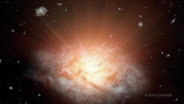Астрономы нашли самую яркую галактику в созвездии Водолея