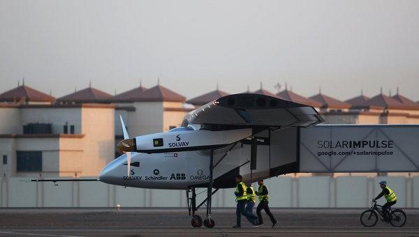 Самолет Solar Impulse 2 совершил посадку в аэропорту Комаки в Японии