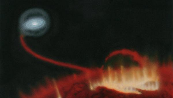 Астрофизики увидели вспышку на красном гиганте Mira