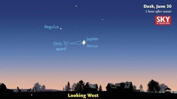 Венера и Юпитер станут самыми яркими светилами на небе в конце июня