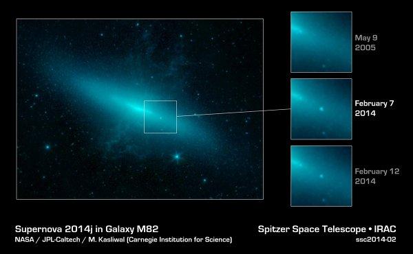 Хаббл получил снимки сверхновой в созвездии Большой Медведицы