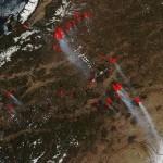 НАСА: зонд Aqua получил новые снимки лесных пожаров в Сибири