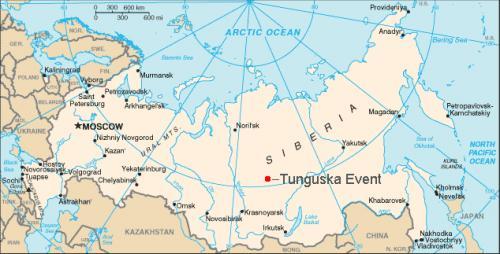 Место крушения Тунгуского метеорита