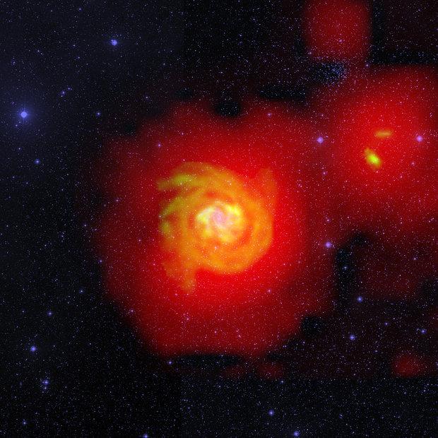 Астрономы засняли «межгалактический газопровод»