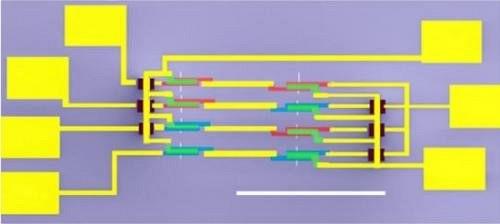 Создана самая сложная на сегодняшний день электронная схема на основе шести углеродных нанотрубок, содержащая 46 полевых транзисторов