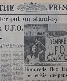 Военные Новозеландии обнародуют свои файлы по НЛО