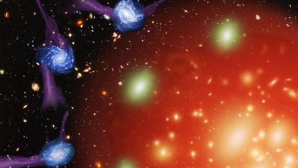 Пожилые галактики умирают от газового удушья, выяснили астрономы