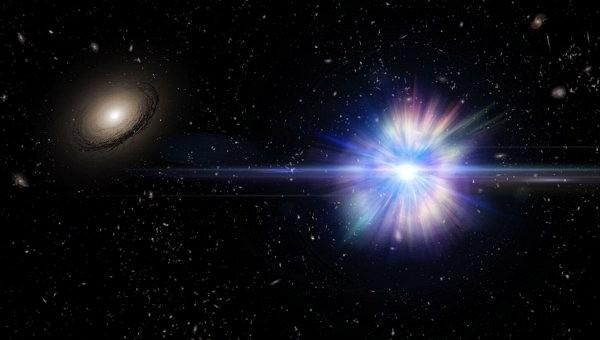 Взрыв трех сверхновых за пределами галактик