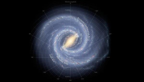 Ученые уточнили предполагаемое изображение галактики Млечный Путь