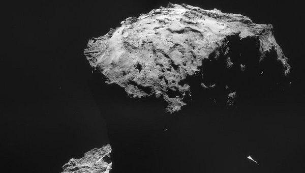 «Розетта» получила карту воды в «хвосте» кометы Чурюмова-Герасименко