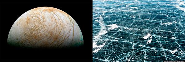 Гейзеры на Европе и водяной пар над Церерой